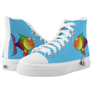 Happy fish printed shoes
