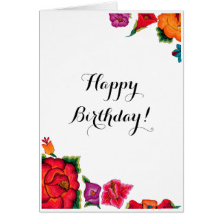 Happy Floral Birthday Card