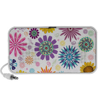 Happy floral pattern travel speakers