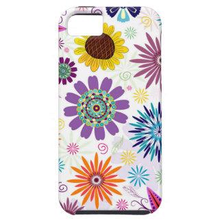 Happy floral pattern tough iPhone 5 case