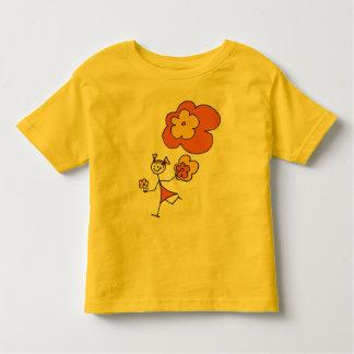 Happy Flower Girl Toddler T-Shirt