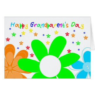 Happy Flower Grandparent's Day Greeting Card