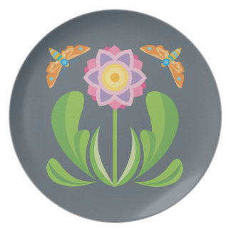 Happy Flower Plate