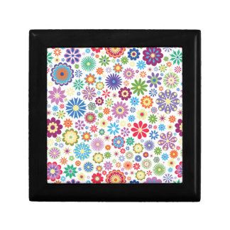 Happy flower power small square gift box