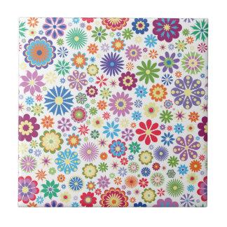 Happy flower power ceramic tiles