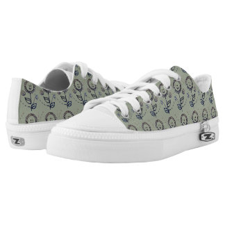 happy flower printed shoes