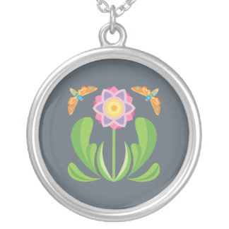 Happy Flower Silver Plated Necklace