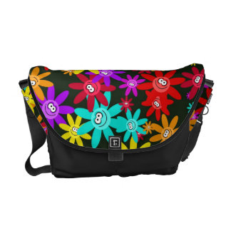Happy Flower Wallpaper Courier Bag