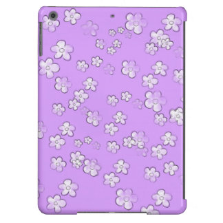 Happy Flowers 4 - Violet - Cute Girly Case - iPad Air Case