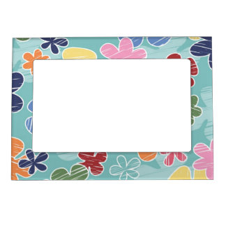 Happy Flowers 5x7 Magnetic Frame