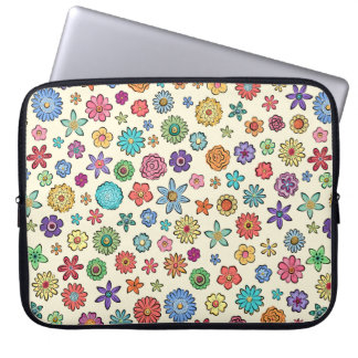 Happy Flowers laptop sleeve