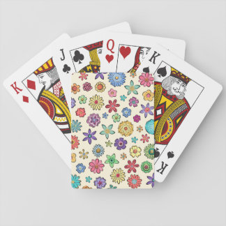 Happy Flowers playing cards