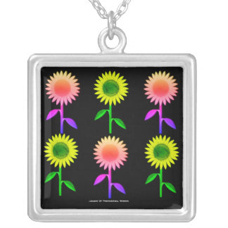 Happy Flowers Silver Plated Necklace