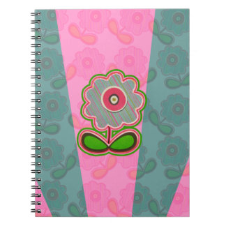 Happy Flowers Spiral Note Books