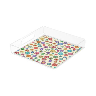 Happy Flowers square tray