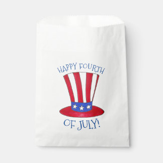 Happy Fourth 4th of July Uncle Sam Tophat USA Favour Bag