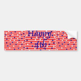 Happy Fourth Bumper Sticker