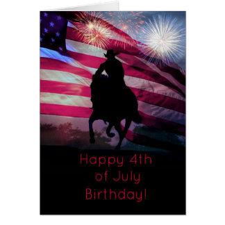 Happy Fourth of July Birthday Card