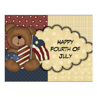 Happy Fourth Of July Postcard