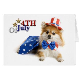 Happy Fourth of July Puppy Card
