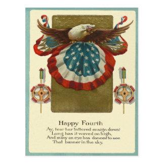 Happy Fourth Postcard