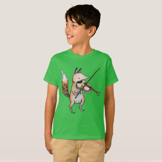 Happy Fox Play The Violin T-Shirt