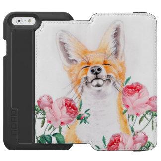 Happy Foxy And Roses Incipio Watson™ iPhone 6 Wallet Case