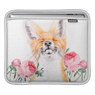 Happy Foxy And Roses iPad Sleeve