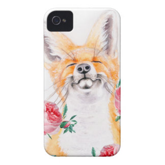 Happy Foxy And Roses iPhone 4 Case-Mate Cases