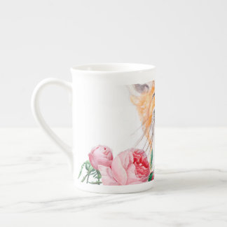 Happy Foxy And Roses Tea Cup