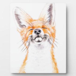 Happy Foxy Plaque