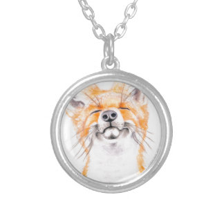 Happy Foxy Silver Plated Necklace