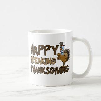 Happy Freaking Thanksgiving Basic White Mug