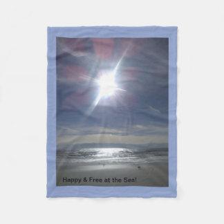 Happy & Free at the Sea! Fleece Blanket