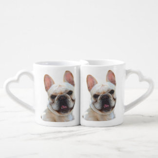 Happy French Bulldog dog Coffee Mug Set