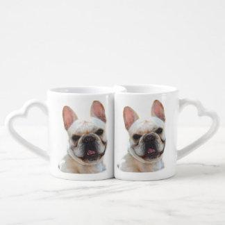 Happy French Bulldog dog Couple Mugs