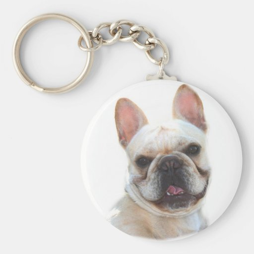 Happy French Bulldog keychain
