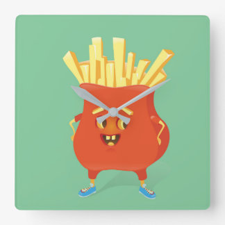 Happy French Fries Clock