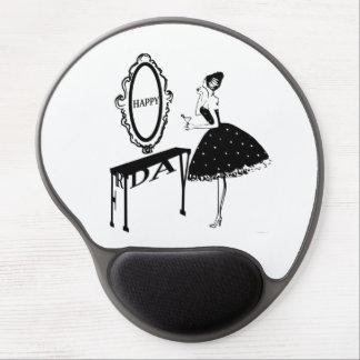Happy Friday Fashion Illustraton Gel Mouse Pad
