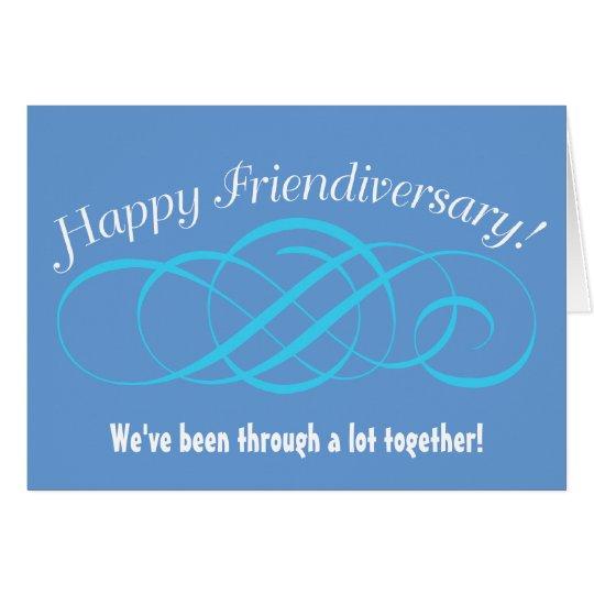 Happy Friendiversary Swirl Design Card