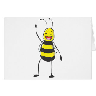 Happy Friendly Bee Saying Hi to You Greeting Card