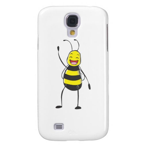 Happy Friendly Bee Saying Hi to You Galaxy S4 Cover