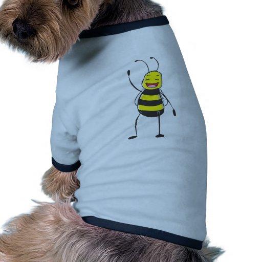 Happy Friendly Bee Saying Hi to You Doggie Tee