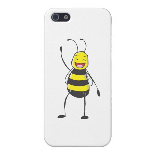 Happy Friendly Bee Saying Hi to You iPhone 5 Covers