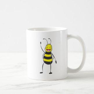 Happy Friendly Bee Saying Hi to You Mugs