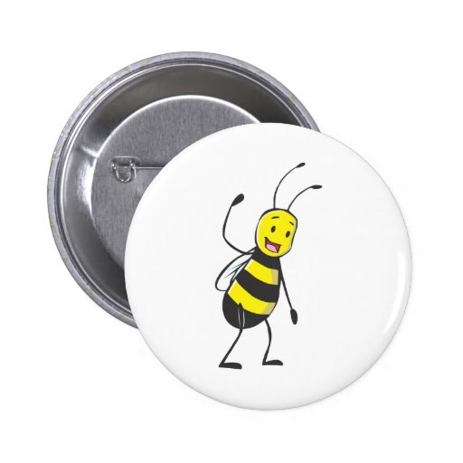 Happy Friendly Bee Welcoming You Pins