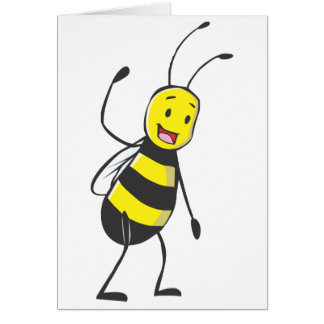 Happy Friendly Bee Welcoming You Greeting Card