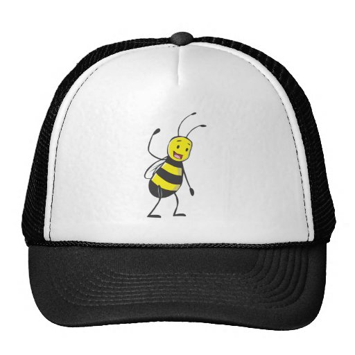 Happy Friendly Bee Welcoming You Trucker Hat