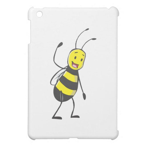Happy Friendly Bee Welcoming You iPad Mini Cover
