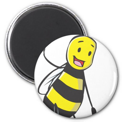 Happy Friendly Bee Welcoming You Fridge Magnets
